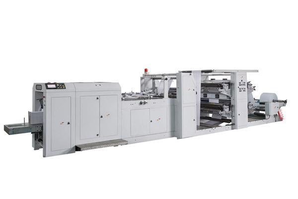 LSD-700+LST-4100 Автоматическая высокоскоростная машина для бумажного мешка с флексографской печатной машиной